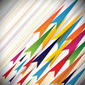 Colorful vectors of fast moving arrows and their p paths this is abstract background template for websites blogs book covers Royalty Free Stock Image