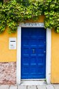Colorful Venetian house entrance door Royalty Free Stock Photo