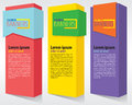 Colorful vertical banners vector eps Stock Photography