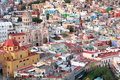 Colorful view of the city  Guanajuato, Mexico. Royalty Free Stock Photo