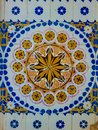 Colorful vintage ceramic tiles