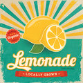 Colorful vintage lemonade label poster vector illustration Royalty Free Stock Image