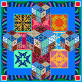 Colorful vintage tiles with floral and geometrical patterns.