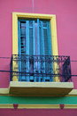 Colorful wall and balcony Stock Image