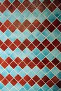 Colorful wall tiles in an interesting arrangement Royalty Free Stock Photo