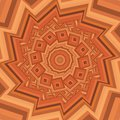Colorful warm brown kaleidoscope mandala fractal ornament for yoga, clubs, shows