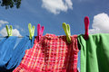 Colorful Washing Line Stock Photography