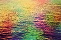 Colorful Water Ripples In The ...