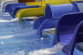 Colorful water slides at the aqua park Royalty Free Stock Photo