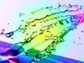 Colorful water splash Royalty Free Stock Photo