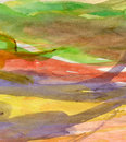 Colorful watercolor background texture resembling modern meaningless abstract art Stock Photos