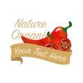 Colorful watercolor texture vector nature organic vegetable bann