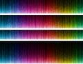 Colorful wave on black background.