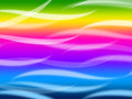 Colorful Waves Background Means Rainbow Wavy Lines Royalty Free Stock Photo