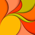 Colorful wavy design abstract background paper layers Royalty Free Stock Photos