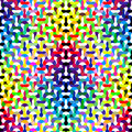 Colorful wavy refracted background seamless vector pattern Royalty Free Stock Image