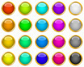 Colorful web buttons Royalty Free Stock Photos