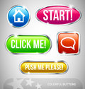 Colorful Web buttons Stock Photos