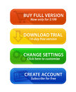 Colorful web buttons with icons Stock Image