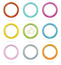 Colorful web buttons set Royalty Free Stock Image
