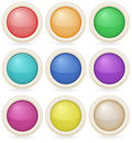 Colorful web design buttons illustration of the on a white background Stock Images