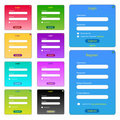 Colorful Web Forms Stock Photo