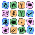 Colorful web icons Royalty Free Stock Photo