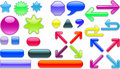 Colorful web icons Stock Photo