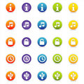 Colorful Web Icons 3 (Vector) Stock Photography