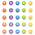 Colorful Web Icons 4 (Vector) Stock Photo