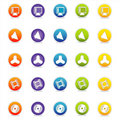 Colorful Web Icons 6 (Vector) Stock Photos
