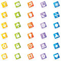 Colorful Web Icons (Vector) Royalty Free Stock Photography