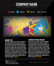 Colorful Web site design template Stock Images
