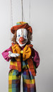 Colorful Welcoming Clown Puppet in Prague Royalty Free Stock Photo