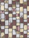 Colorful cobblestone road pavement, background photo texture Royalty Free Stock Photo
