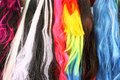 Colorful wigs for camouflage for carnival Stock Photography