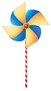 A colorful windmill toy illustration of on white background Stock Photography
