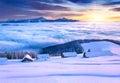 Farbistý ráno v hory