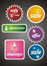 Colorful Winter Sale Tags and Stickers Set Royalty Free Stock Photography