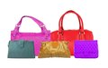 Colorful women bags Royalty Free Stock Photo