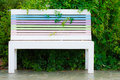 Colorful wood bench Royalty Free Stock Photos