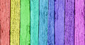 Colorful wooden background wood with a vertical row of rainbow colors Stock Photo