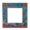 Colorful wooden frame Royalty Free Stock Photo
