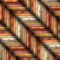 Colorful wooden tiles on the floor Royalty Free Stock Photo