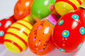 Colorful wooden toy maracas Royalty Free Stock Images
