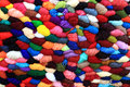 Colorful wool different colors of which i seen on roadside Royalty Free Stock Image