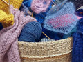 Colorful wool yarn Royalty Free Stock Photo