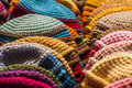 Colorful woolen cap for winter Royalty Free Stock Photos