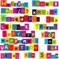 Colorful words relate with summer and holiday on white background Stock Photo