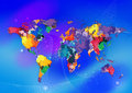 colorful world map Royalty Free Stock Photo